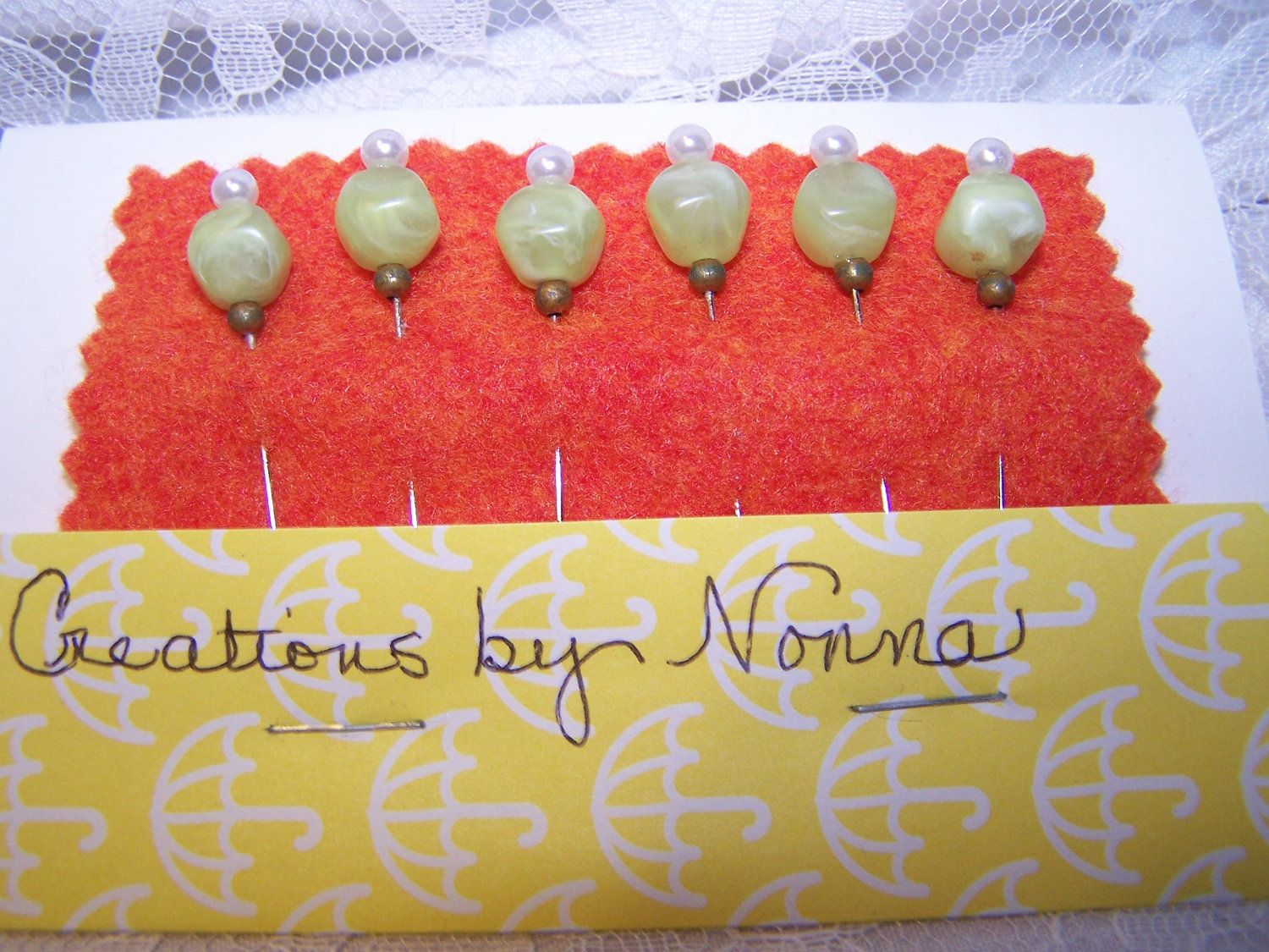 Decorative Stick Pins for Scrapbooking, Corsage, Cardmaking, Cork Memo Board. $3.00, via Etsy.