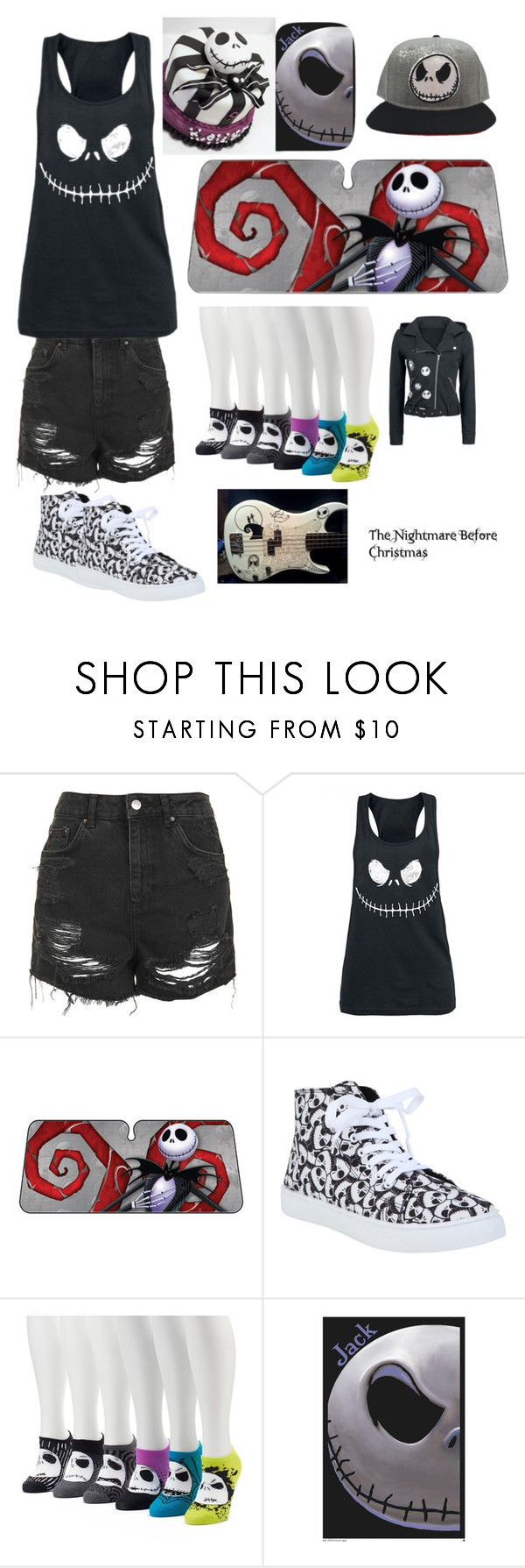 """""""nightmare before christmas"""" by panther-bear ❤ liked on Polyvore featuring Topshop, Disney and Burton"""