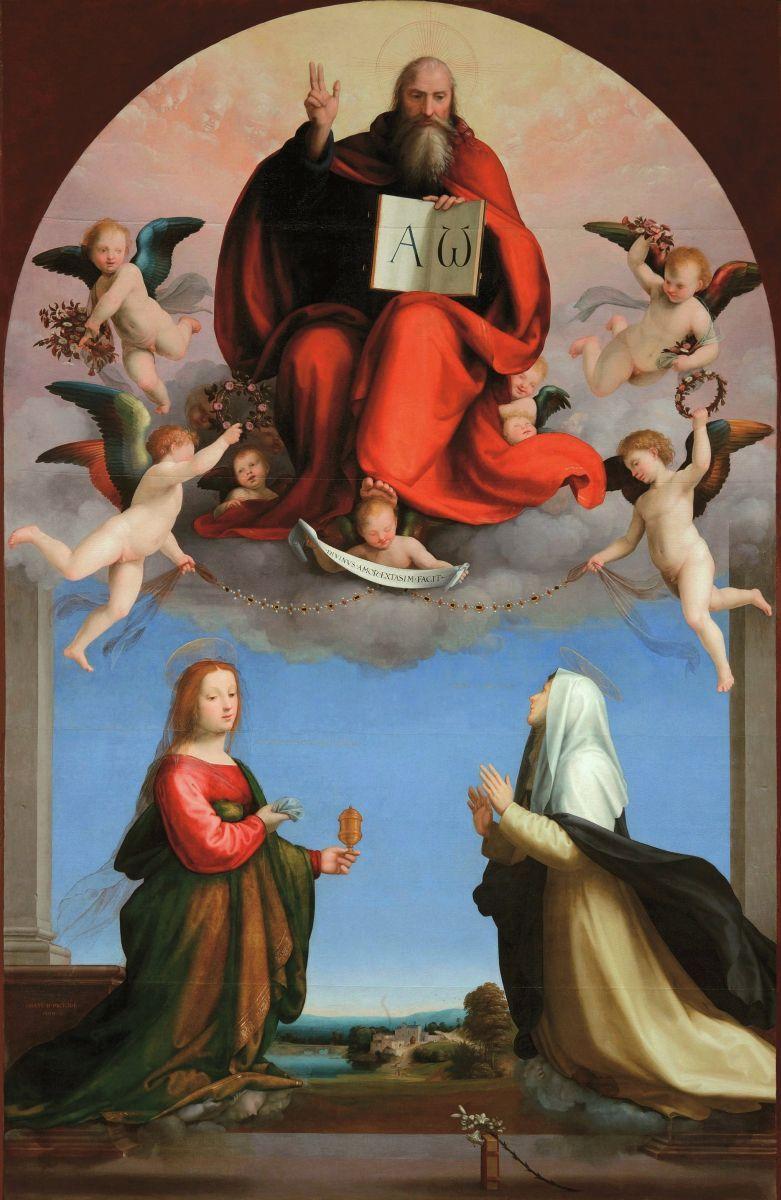 Фра Бартоломео. Бог-Отец со св. Екатериной Сиенской и Марией Магдалиной