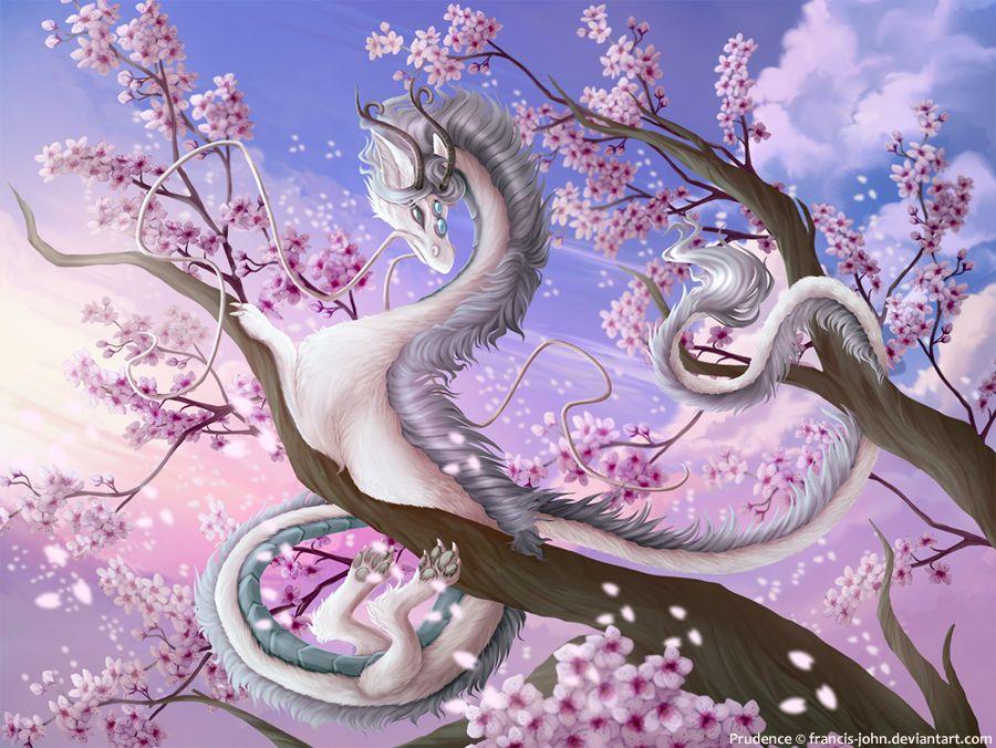поселка драконы и сакура картинки мехе