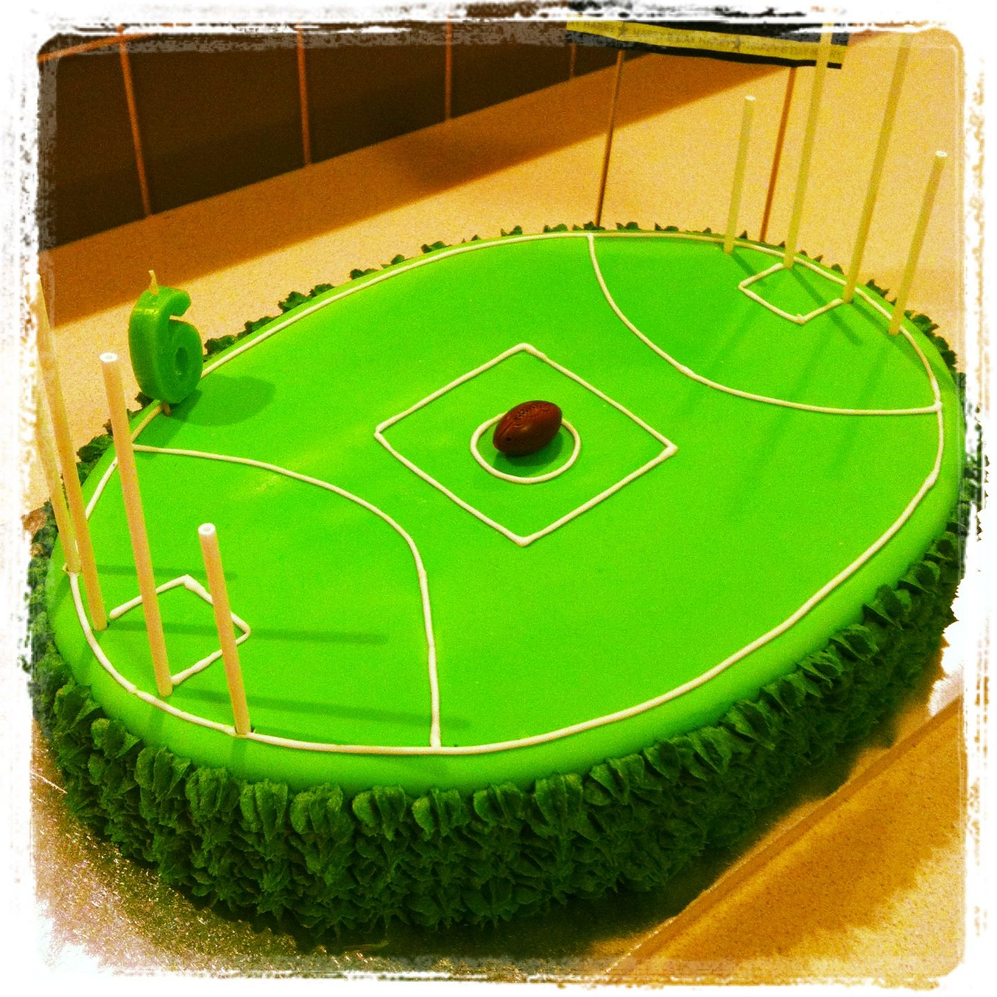 Afl Football Oval Birthday Cakes