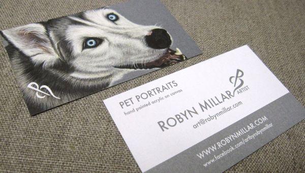 Pet Portrait Business Cards