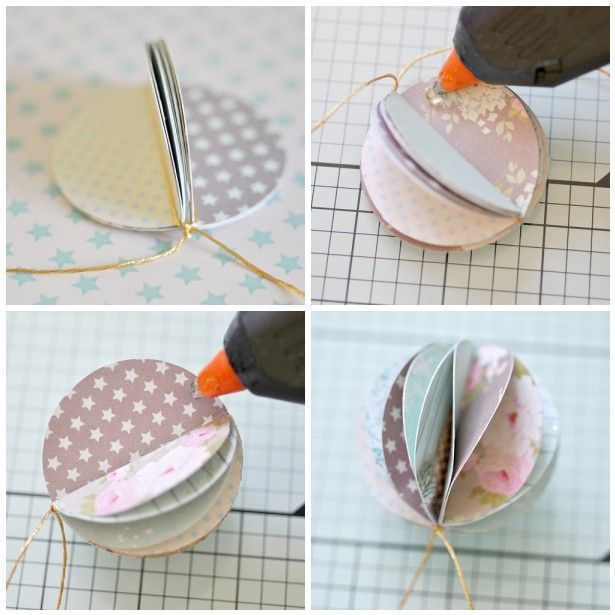 Photo of Pretty paper bauble -steps 5-8