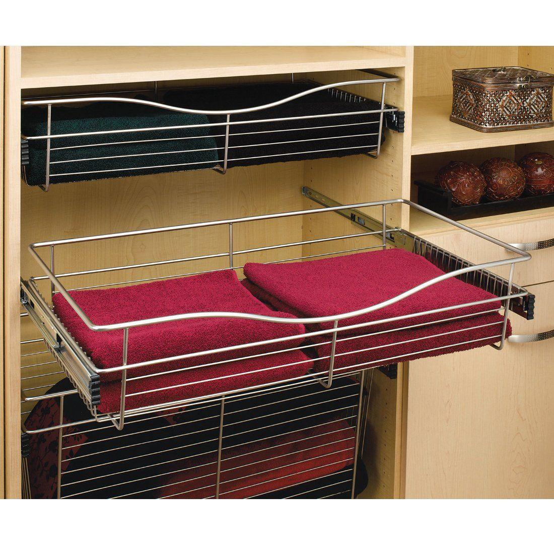 Rev A Shelf Cb301607 Cb Series Pull Out Wire Basket For Closet Cb 181407cr 5 At Atg Stores Rev A Shelf Shelves Contemporary Closet Organizers