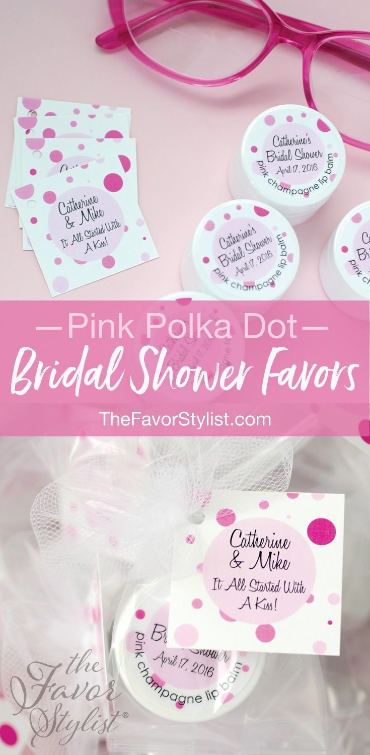 Bridal Shower Lip Balm + Custom Labels + Tags | Bridal Shower Ideas ...