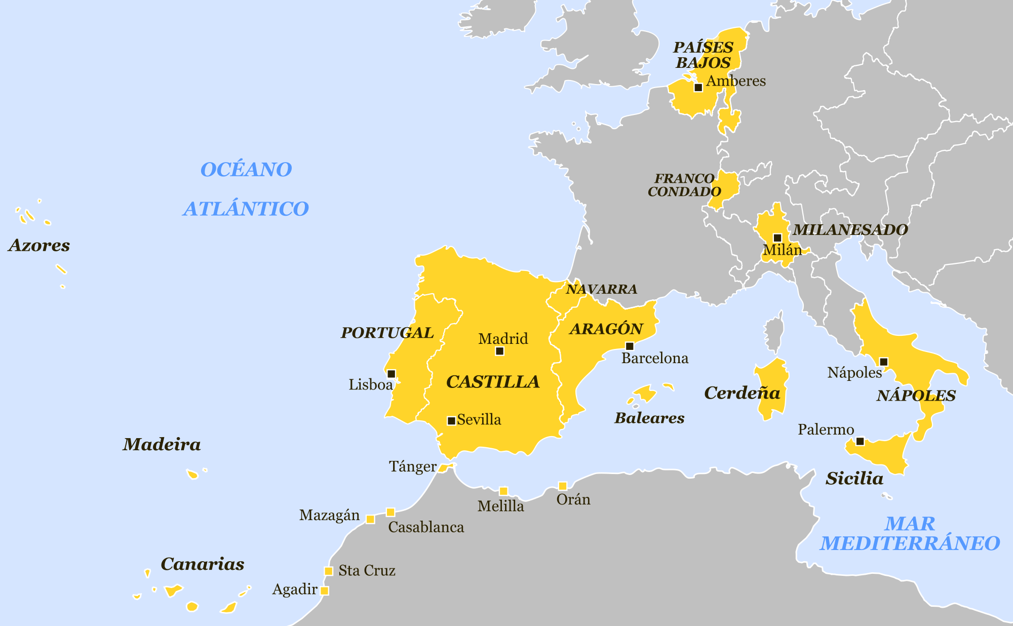 The Kingdoms And Dominions Of Spain In 1581 Kartographie Jamaika Karten
