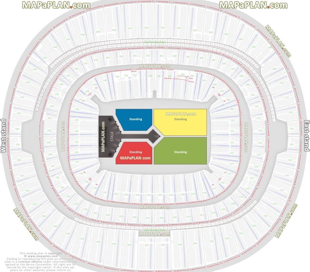 Wembley Stadium Seating Plan Boxing Konser