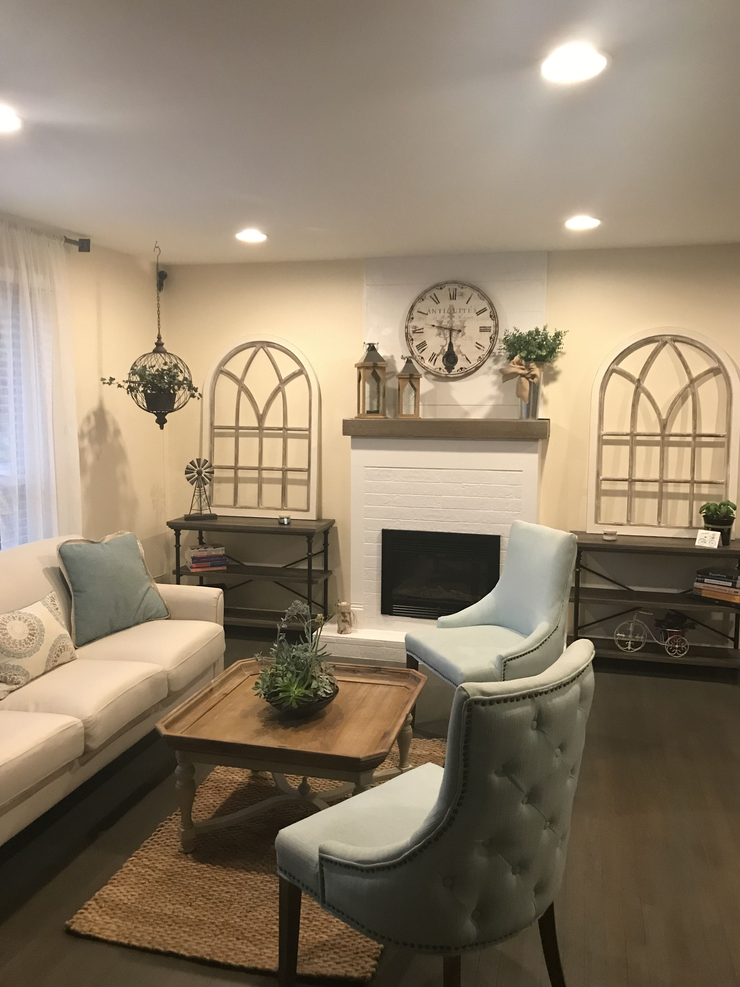 Ivory Arch Wall Decor Faux fireplace ideas in 2019