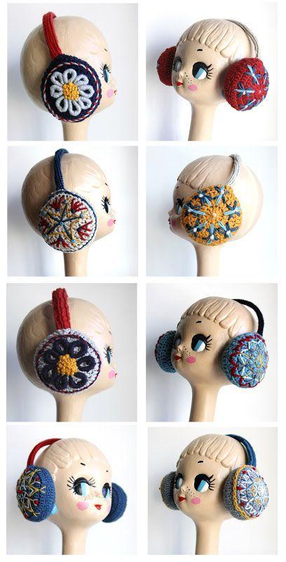 Earmuffs Crocheted by Lanusa | hand made | Pinterest