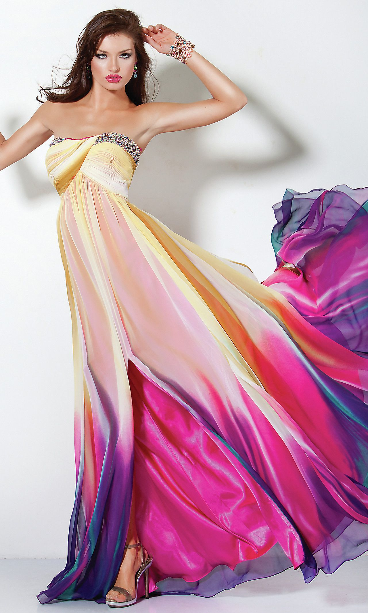 Strapless Print Jovani Prom Dress JO-3006 | get the look | Pinterest ...
