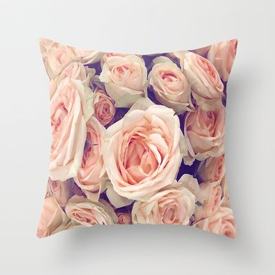 Pink Roses In A Bubble Throw Pillow by Love2Snap - $20.00