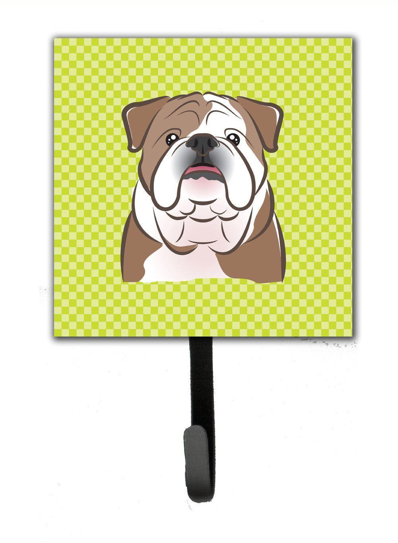 Checkerboard Lime Green English Bulldog Leash or Key