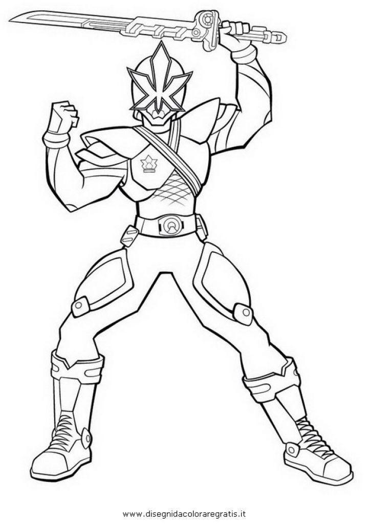 Easy Free Power Rangers Samurai Superheroes Coloring Page For Kids ...