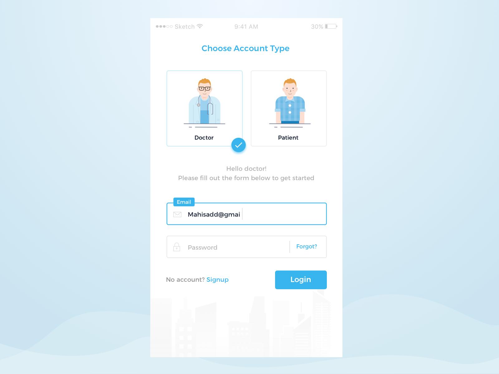 Multiple Login 2x Login Form Login Page Resume Design Template Free