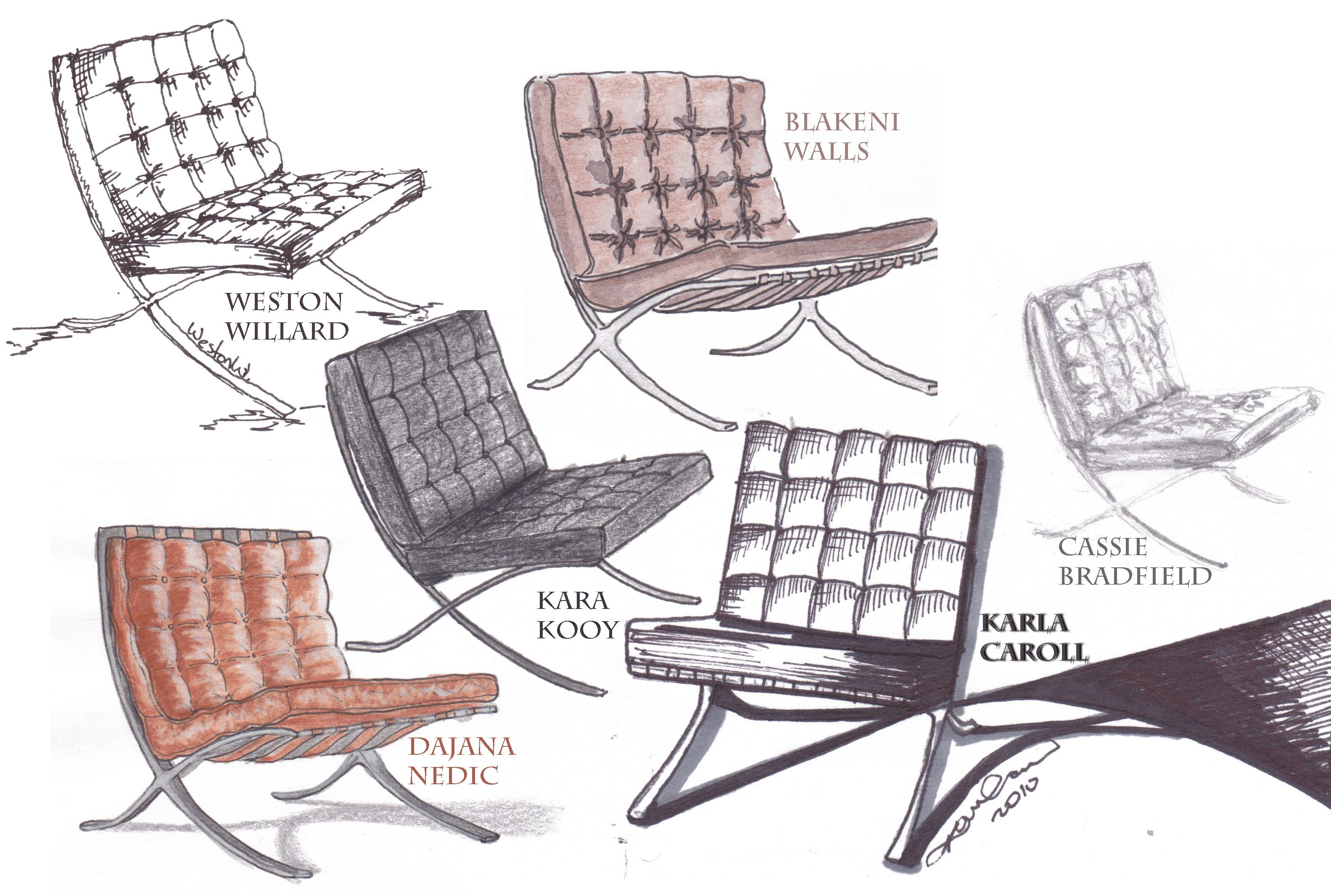Barcelona Chair Ludwig Mies Van Der Rohe Barcelona Chair Patio Chair Cushions Contemporary Dining Chairs