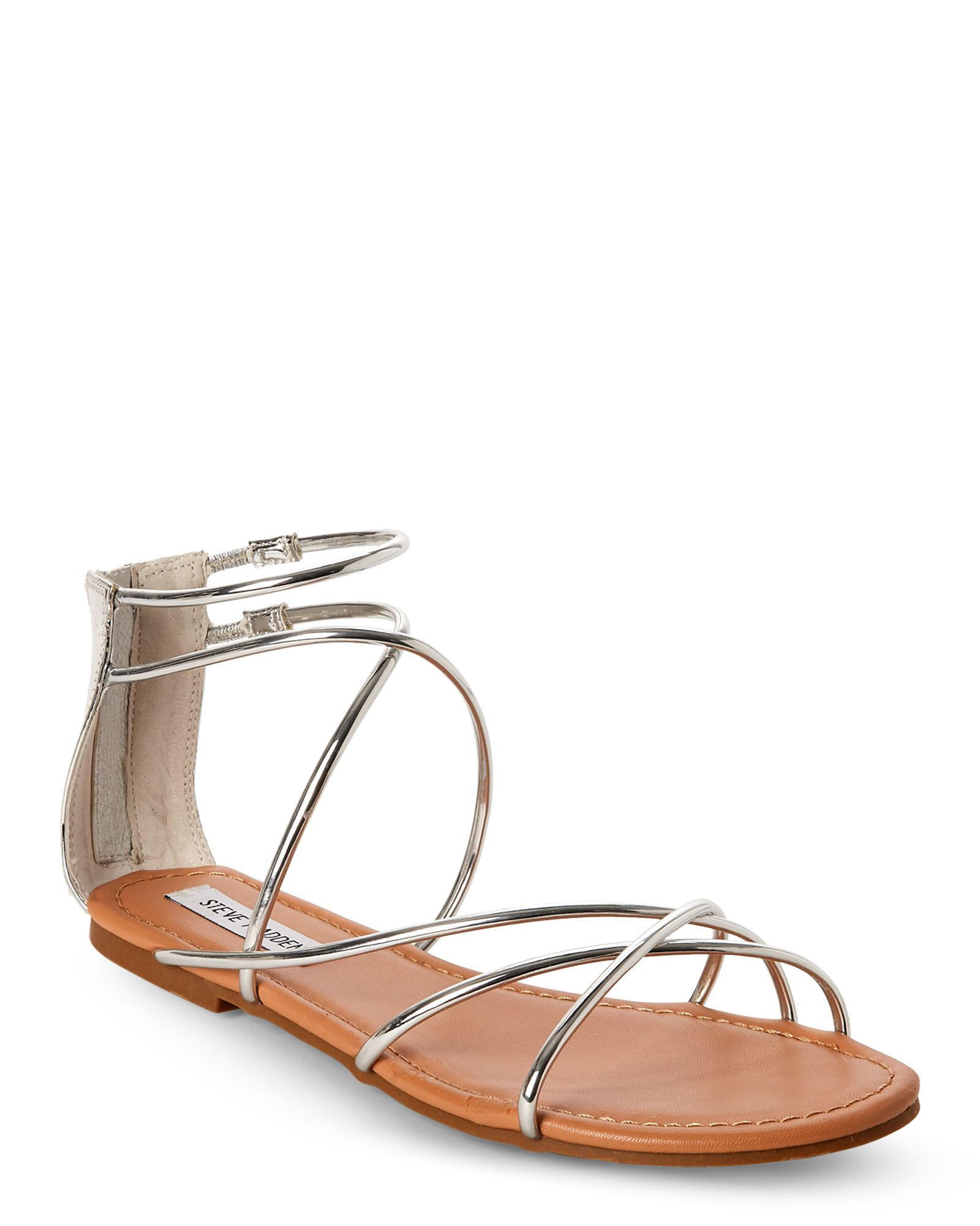 2d2088dab77 Silver Sapphire Strappy Flat Sandals in 2019 | *Apparel ...