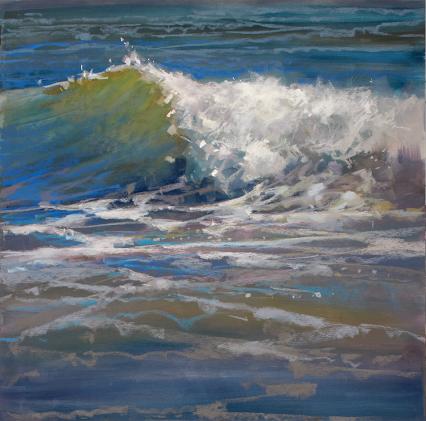 Landscape Painting In Pastel Summer Waves Streaming Video Landscape Paintings Seascape Paintings Ocean Painting