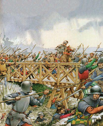 The Battle Of Towton, 1461, Wars Of The Roses - Look and Learn History Picture Library