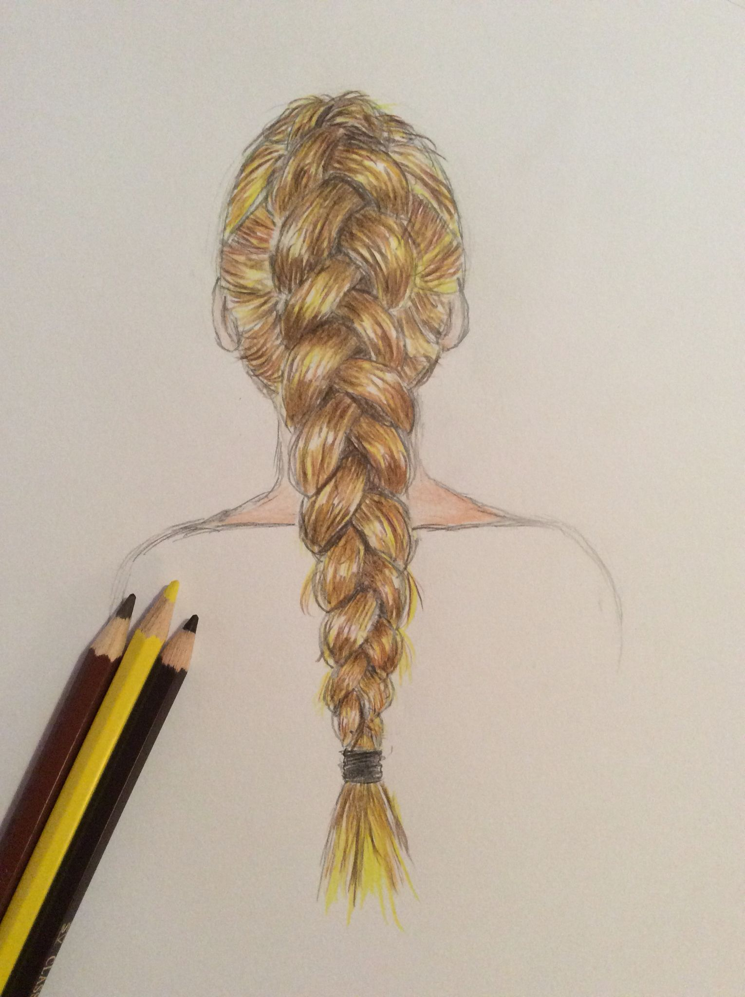 dutch braid drawing braid in 2018 pinterest braid drawing
