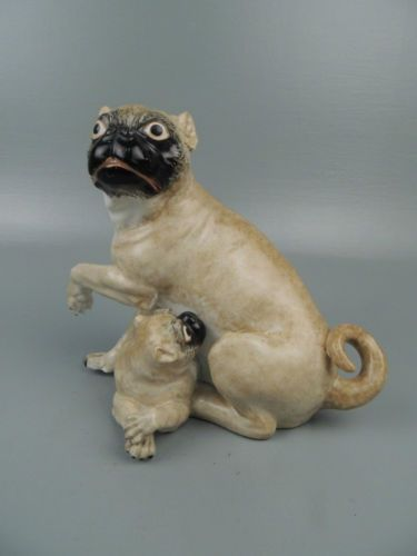 Antique Chamberlain S Worcester Porcelain Pug Puppy After