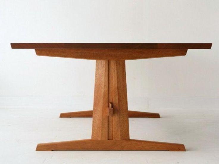 Antique trestle dining table ferodoor trestle dining