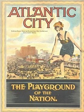 Atlantic City Tourism Promotional Poster Circa 1920s Atlantic City Atlantic City Boardwalk Travel Posters