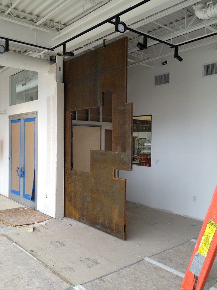 Doors Of TGAS: Ceramics Gallery Corten Door The Door Was Made By Columbia  Construction Company