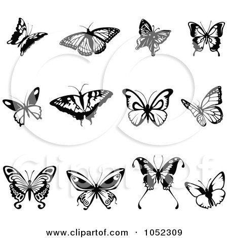 Flying Butterfly Tattoo Outline Butterfly Clip Art Butterfly Tattoo Butterfly Clip Art Simple Butterfly Tattoo