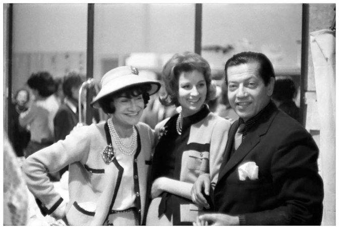 Coco Chanel, Suzy Parker et Serge Lifar, Paris, Janvier 1959 Photo Willy Rizzo