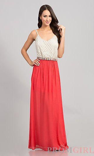 5457f5e20ae9 Spaghetti Strap Long Casual Maxi Dress at PromGirl.com dress  maxi   maxidress