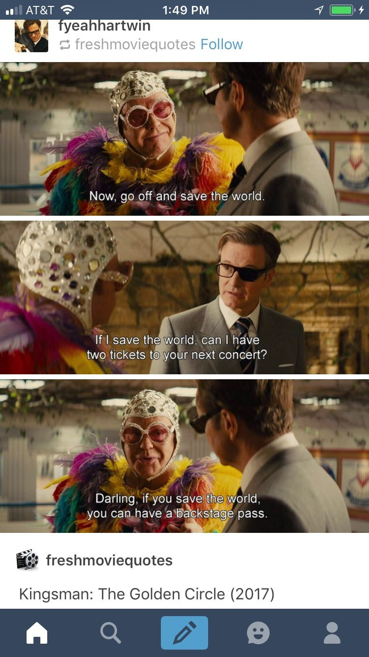 You cannot tell me that scene with Elton John wasn't one