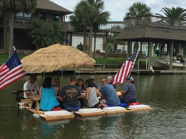 Picnic Table Float Complete With Coolers And Trolling