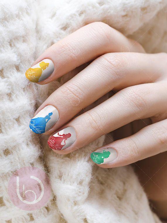 Pin by IamVitabello on Disney Princesses   Pinterest   Nail decals ...
