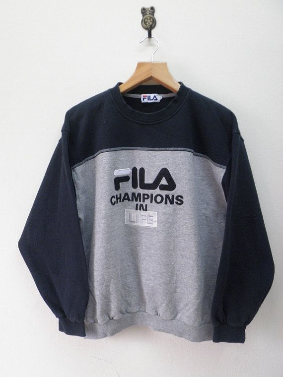 Vintage 90's Fila Champion In Life Sweat by RetroFlexClothing