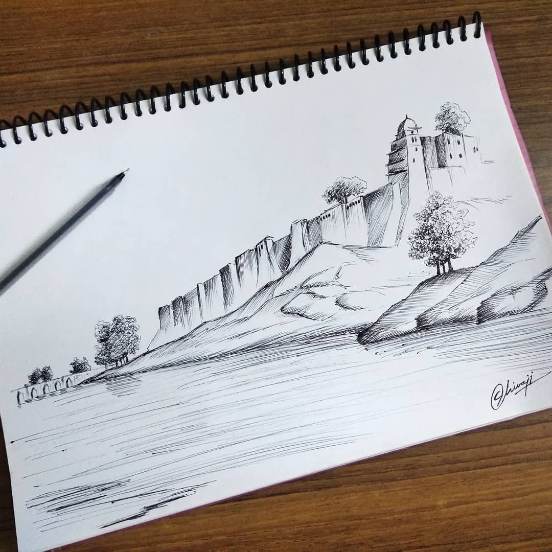 A View Of The Fort Of Jionpoor Upon The Banks Of The River Goomty Incredibleindia India Wanderlust Draw Drawing Instaarti Drawings Wanderlust Art