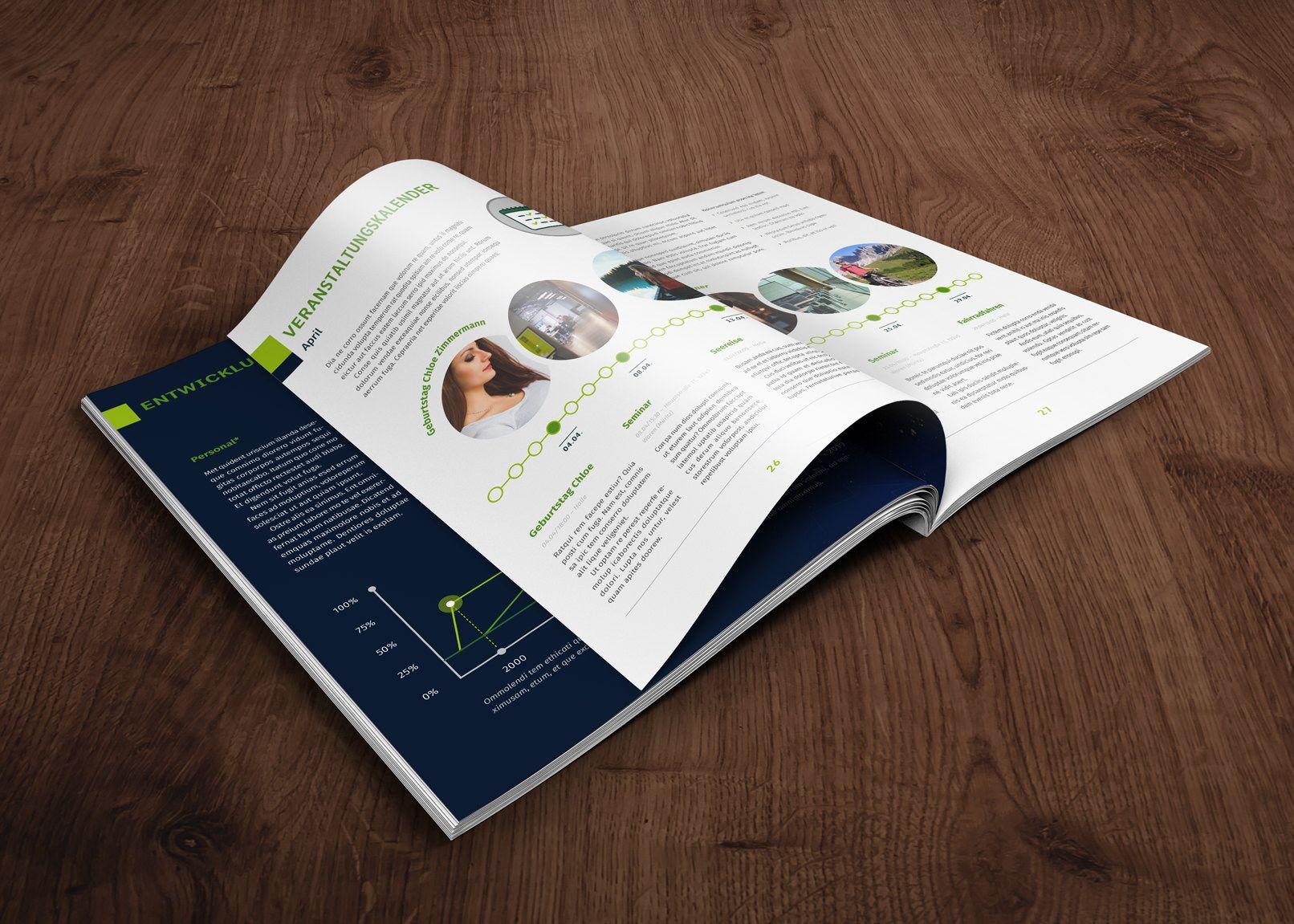 Vorlagenset: Betriebszeitung, Mitarbeitermagazin | A4