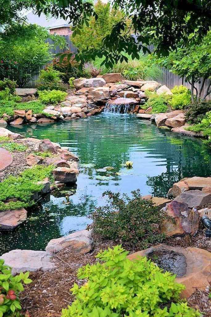 02 Awesome Backyard Ponds And Water Garden Landscaping Ideas