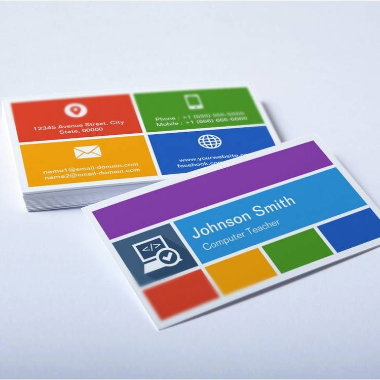 Computer Teacher - Creative Modern Metro Style Business Card ...