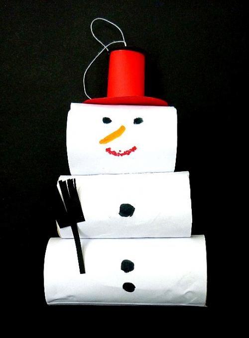 schneemann aus klorollen weihnachten basteln meine enkel und ich made with. Black Bedroom Furniture Sets. Home Design Ideas