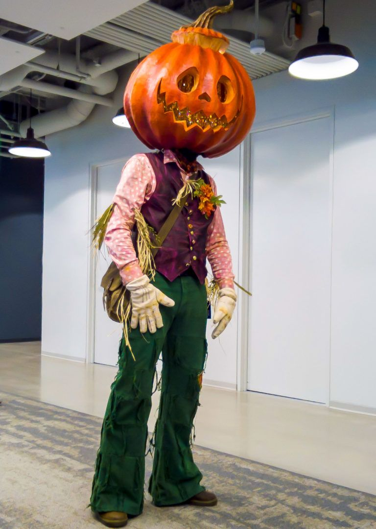 Detailed Jack Pumpkin Halloween Paper Mache Costume Build Overview With Tips For Your D Halloween Costume Design Jack O Lantern Costume Halloween Inspiration
