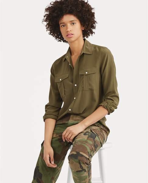 8abba8c930e41 Polo Ralph Lauren Silk Button-Down Shirt