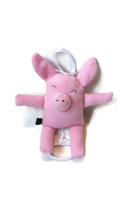 Pullstring Musicbox Piggy Baby Musical Pull String Toy Stuffed