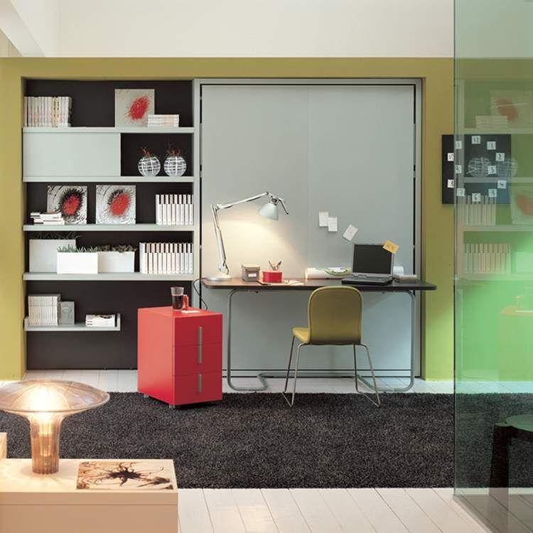 Muebles para ahorrar espacio Cama y Escritorio Ulisse Ahorrar
