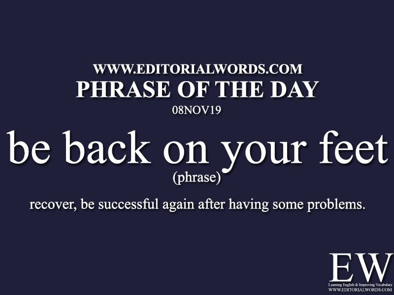 Phrase of the Day08NOV19 Learn english words, English