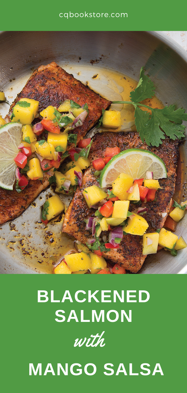 Blackened Salmon with Mango Salsa | Recipe for Two images
