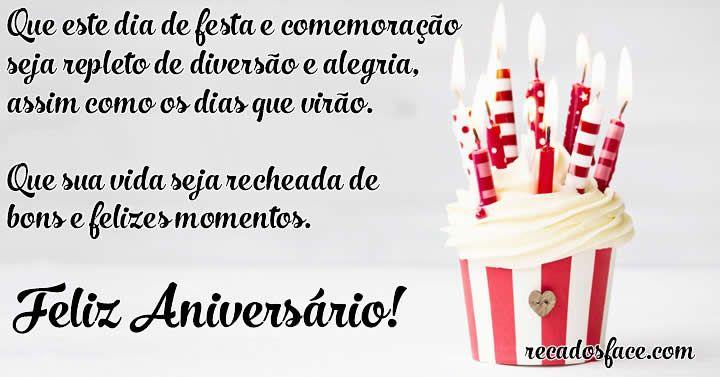 Feliz Aniversário Que Sua Vida Seja Recheada De Bons E Felizes