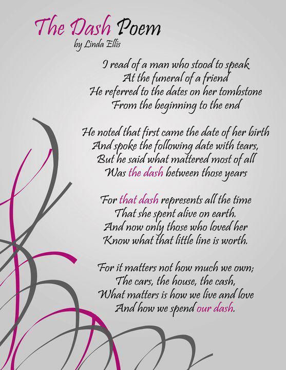 Speech about death of a loved one