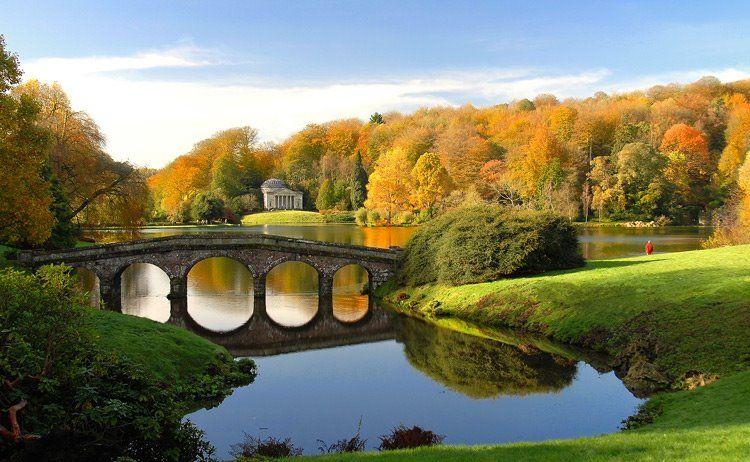 Stourhead Autumn landscape