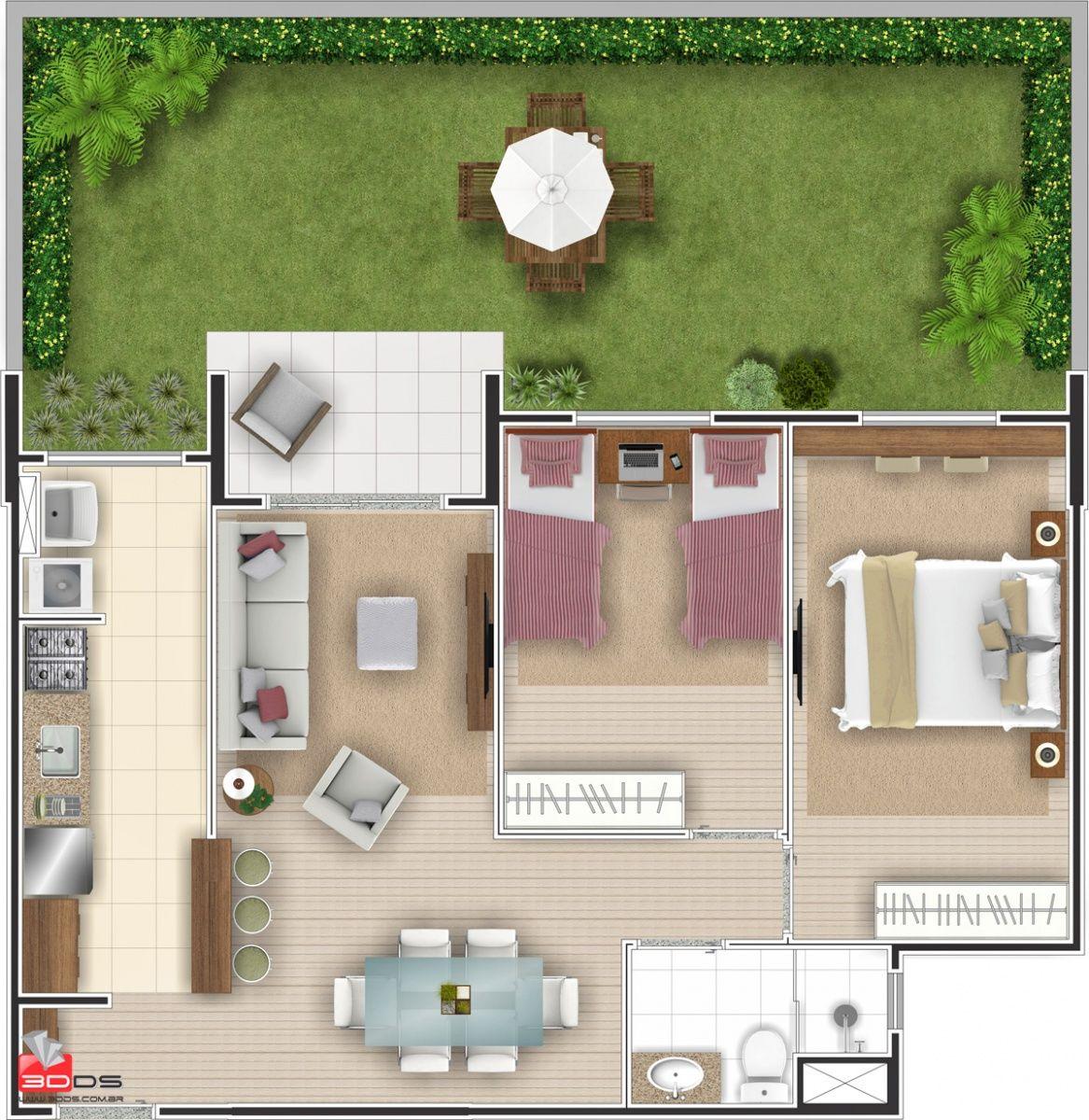 2 Recamaras 1 Piso Casas Prefabricadas Casas Planos De Casas