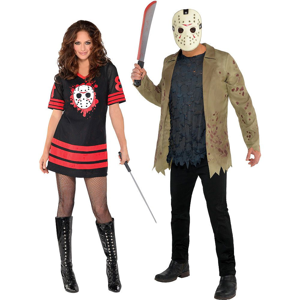 Adult Friday the 13th Couples Costumes Couples costumes
